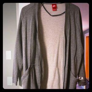 Long Nike Grey cardigan